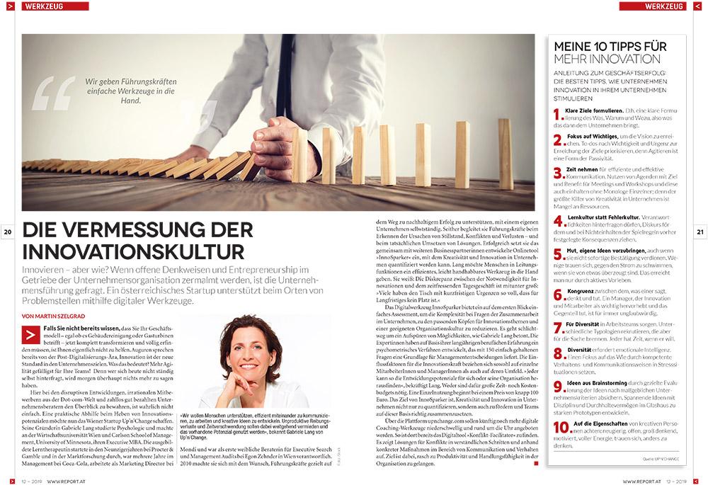 UP'N'CHANGE InnoSparker - Die Vermessung der Innovationskultur (Report 1219)